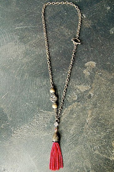 Rona Pfeiffer Long Necklace Made Of Oxidied Silver