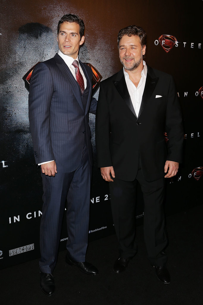 Henry Cavill and Russell Crowe
