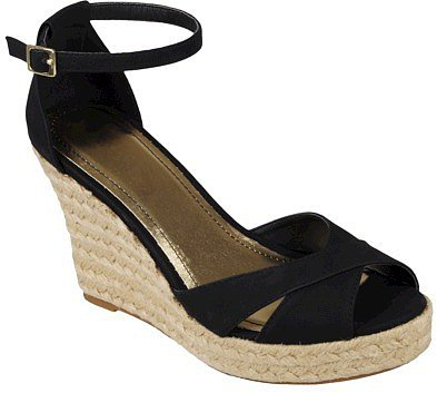 Women's Journee Collection Ankle Strap Wedges