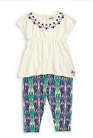 DKNY Infant's Two-Piece Calypso Tunic & Leggings Set