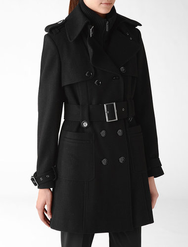 Belted Storm Flap Military Coat