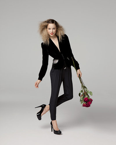 Pleat Front Silk Pant