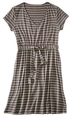 Merona® Women's Plus-Size Short-Sleeve Knit Dress - Gray