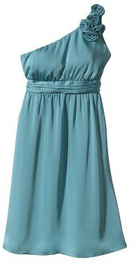 TEVOLIOTM  Women's One-Shoulder Rosette Silky Chiffon Dress - Fashion Colors