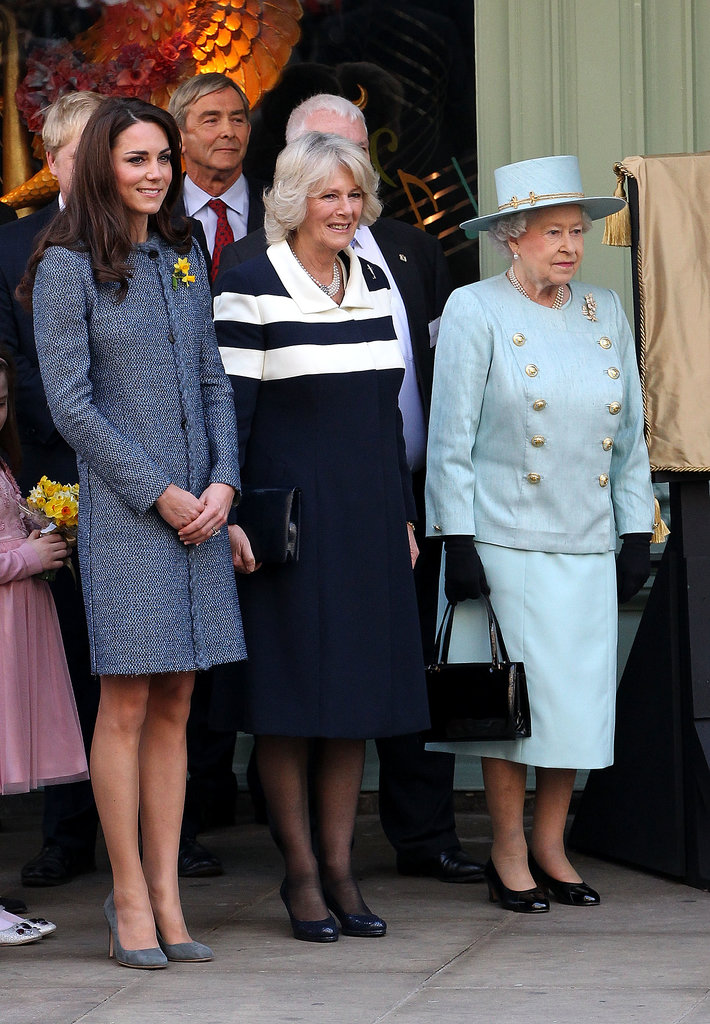 In March 2012, Kate Middleton joined up with Queen Elizabeth II and Camilla, Duchess of Cornwall, when they visited the Fortnum & Mason store in London.
