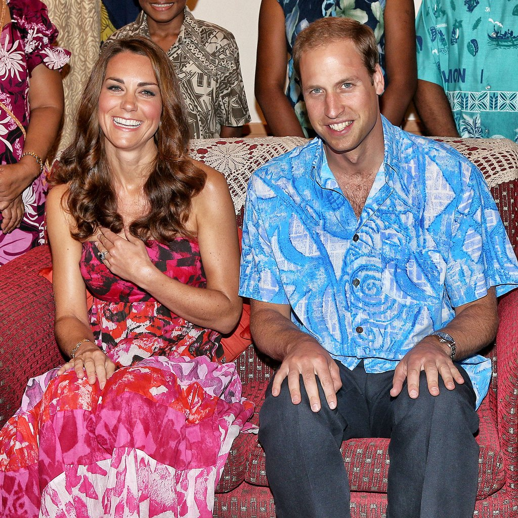 In September 2012, the couple donned traditional island clothing when they visited the governor general's house in the Solomon Islands.