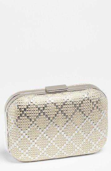 Expressions NYC Diamond Weave Box Clutch