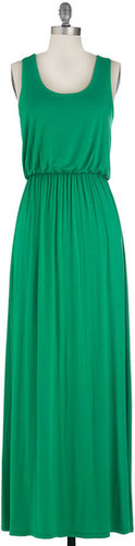 Summer Night Stroll Dress in Green