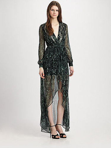 Haute Hippie Silk Hi-Lo Maxi Dress