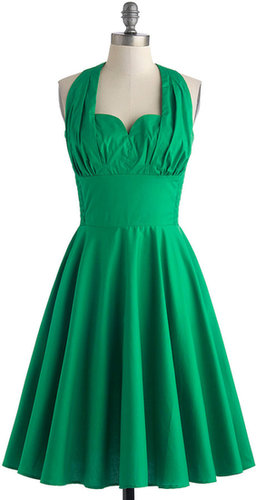 Retro Reminisce Dress in Green