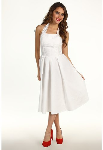 Unique Vintage - Flirty Cotton Swing Dress (Ivory) - Apparel