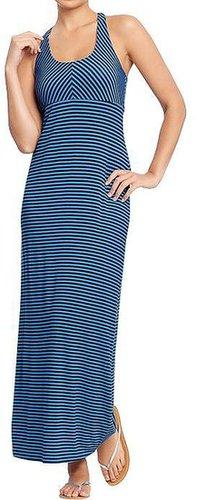 Women's T-Back Jersey Maxi Dresses