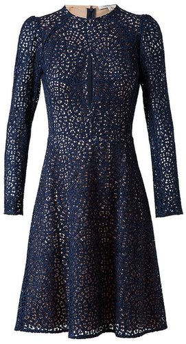 Carven Silk and lace dress