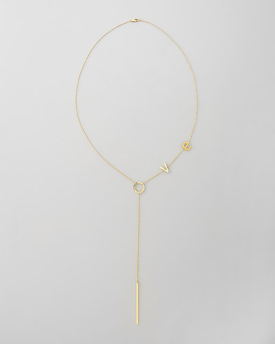 Jennifer Zeuner Love Lariat Necklace