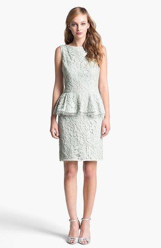 Tadashi Shoji Textured Lace Peplum Dress