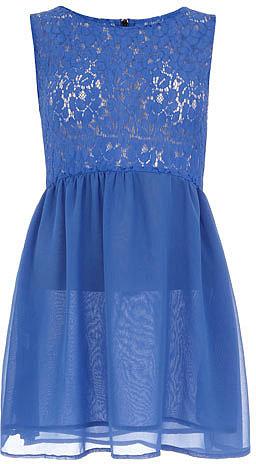Cobalt blue lace top dress