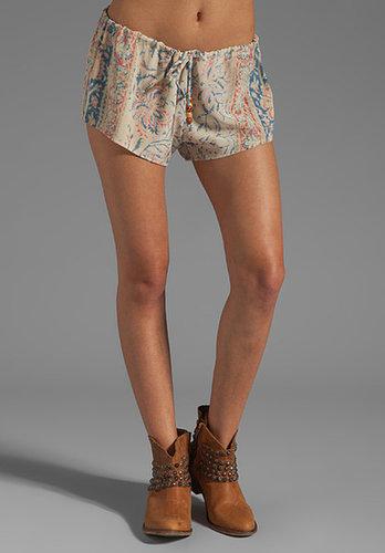 Chaser Vintage Tapestry Silk Drawstring Shorts