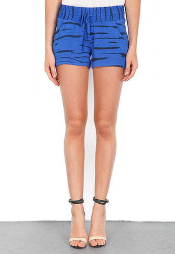 Generation Love Sami Animal Print Gathered Shorts in Blue
