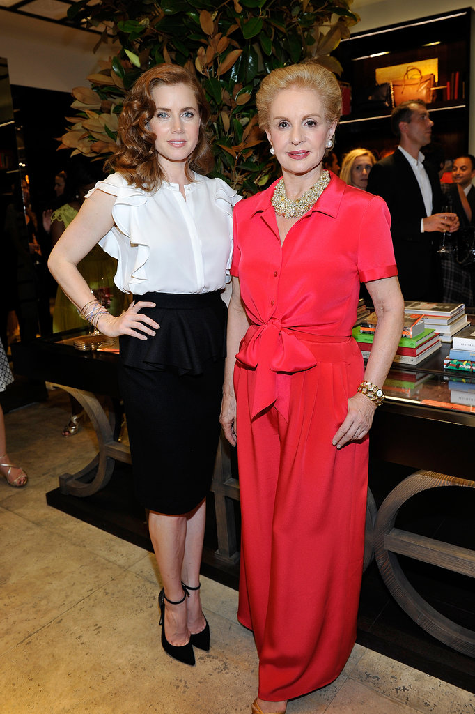 Amy Adams joined the woman of the hour to help open the CH Carolina Herrera boutique on Rodeo Drive.