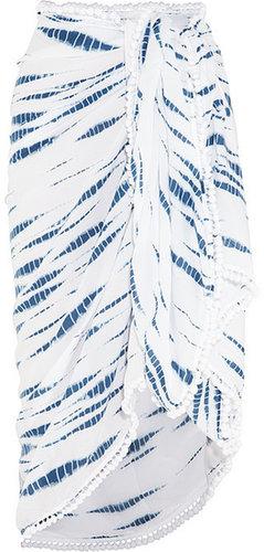 Heidi Klein Saint Lucia pompom tie-dye sarong