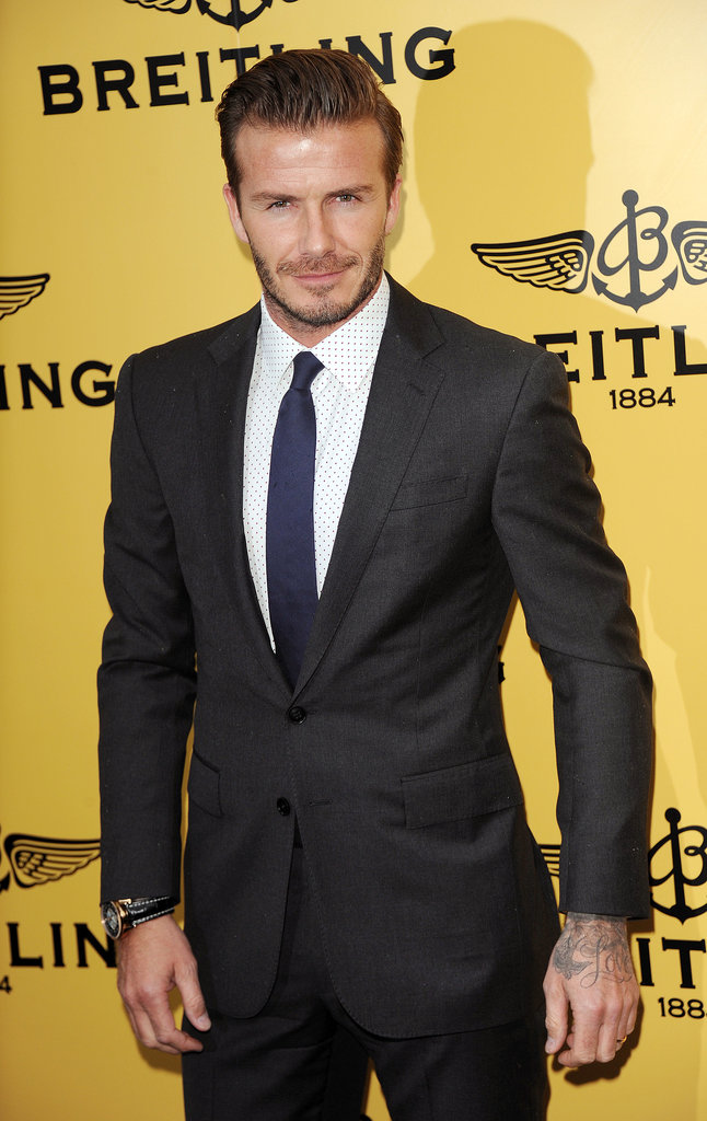 David Beckham cut a dashing figure when he attended the Breitling flagship launch party in London on June 27.