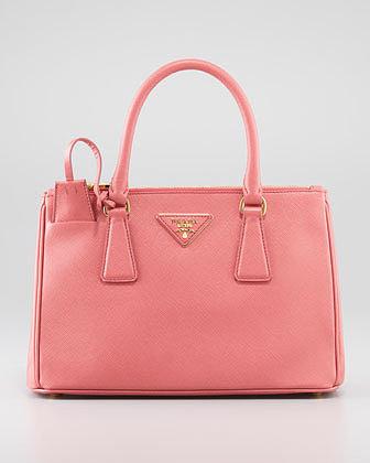 Prada Mini Saffiano Lux Tote Bag, Pink