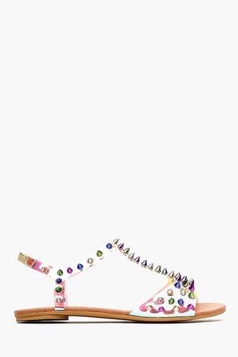 Puffer Spike Sandal - Rainbow
