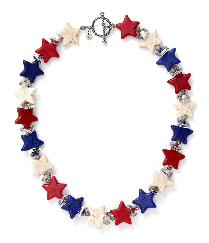 This Americana necklace ($350) from cool accessory brand Sheebee will appeal to everyone at your party (hide it from Mom before she tries swiping it!).