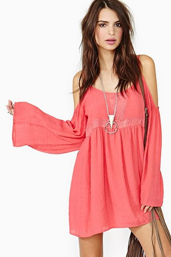 Meadow Crochet Dress - Coral