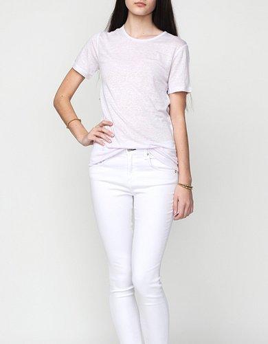 Linen Silk Short Sleeve Tee