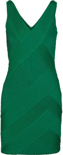 Catherine Malandrino Ribbed ponte dress