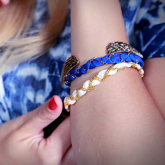 DIY: Ribbon-and-Chain Bracelets