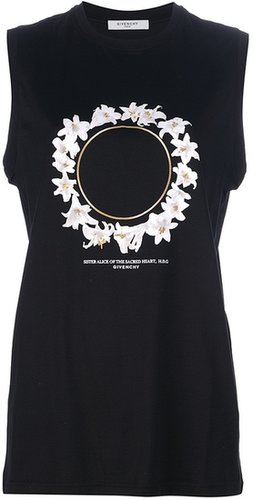 Givenchy sleeveless floral t-shirt