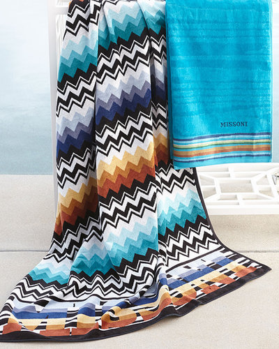 """Missoni Home Collection Blue """"Niles"""" & """"Liam"""" Beach Towels"""