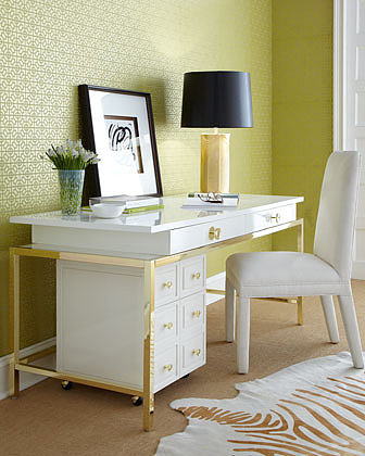 "Lilly Pulitzer Home ""Aster"" Office Furniture"
