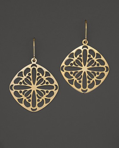 Bloomingdale's 14K Yellow Gold Cushion Lace Earrings