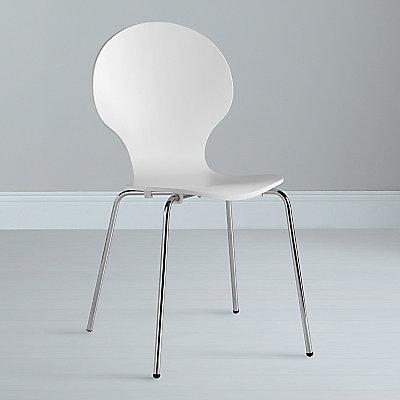 John Lewis Value Curve Chair, White