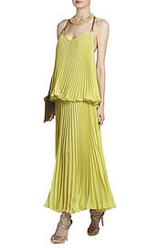 BCBGMAXAZRIA's Joelle Tiered Maxi Pleated Dress