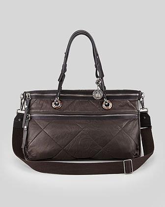 Lanvin Amalia Double-Wear Satchel Bag, Black