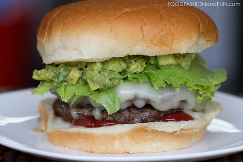 Grilled Cheeseburgers with Roasted Jalapeno Avocado Spread