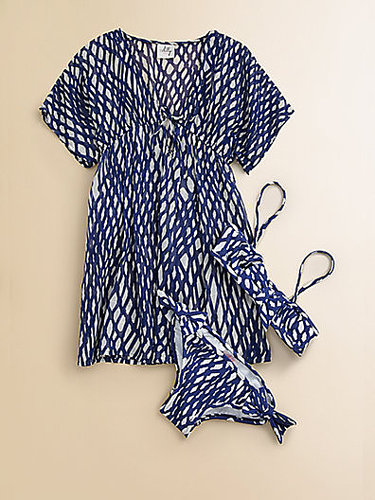 Milly Minis Girl's Rope Print Coverup