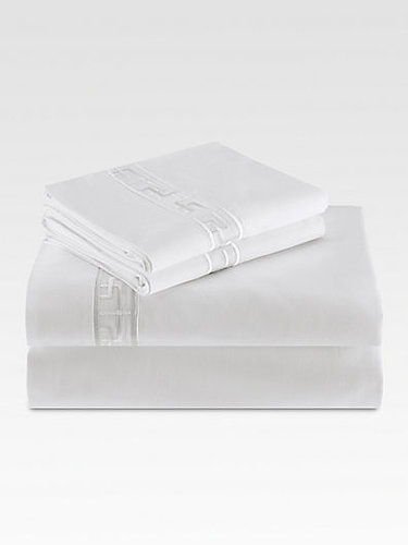 Natori Ming Fretwork Flat Sheet/White