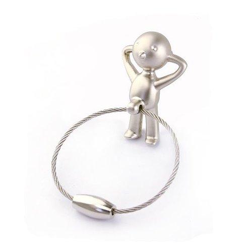 Little Boy Keyring Keychain Silver - feelgift.com