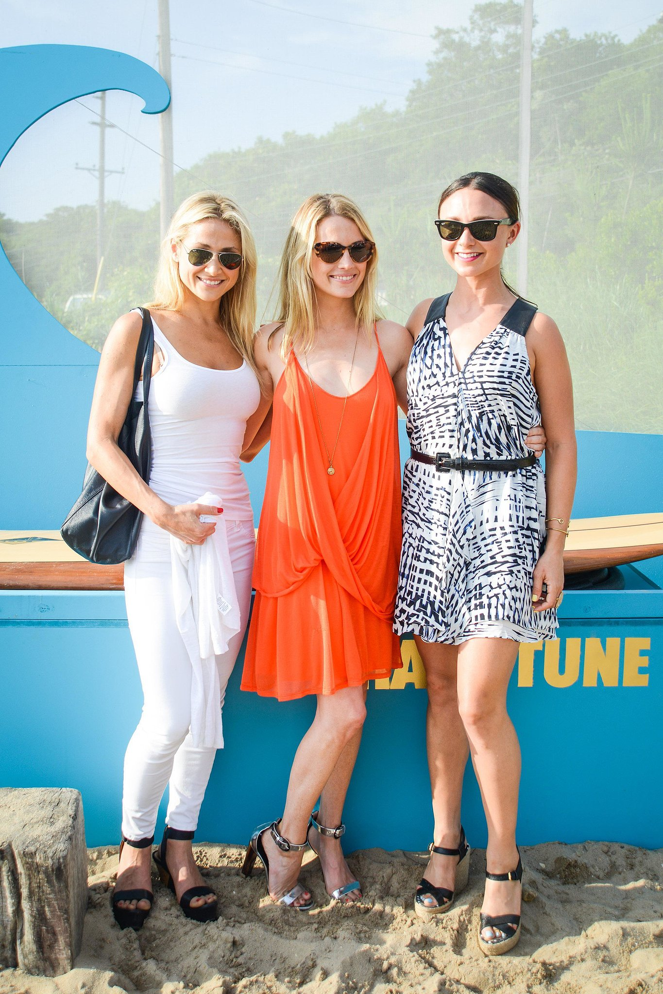Kimberly Ovitz, Amanda Hearst, and Georgina Bloomberg