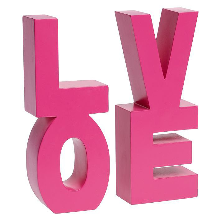 Pottery Barn Teen Love Word Bookends