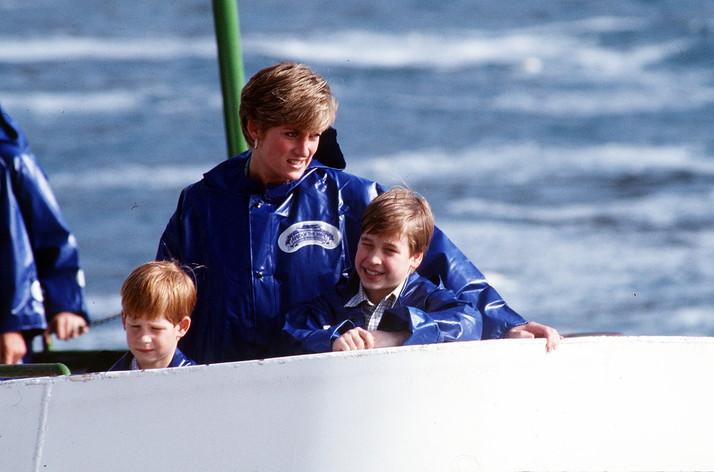 Princess Diana visited Niagara Falls with Prince William and Prince Harry in October 1991.