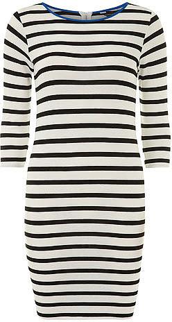 Black/white stripe tube dress