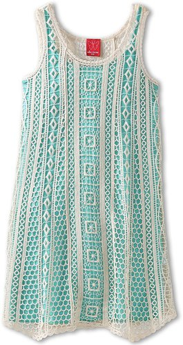 Ella Moss Girl - Hailee Dress (Big Kids) (Mint) - Apparel