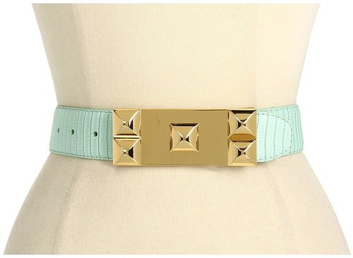 Vince Camuto - 1 1/2 Stud Plaque Buckle (Blue) - Apparel