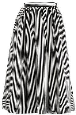 Emilia Wickstead Paley stripe-print silk skirt
